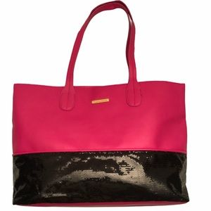 JUICY COUTURE basic pink and sequin tote bag